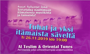 Link to event One Thousand and one Tone-Arabic Music and Dance concert