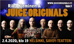 Link to event Juice Originals feat Riku Nieminen – CONCERT RESCHEDULES -> Wed 16.9.2020